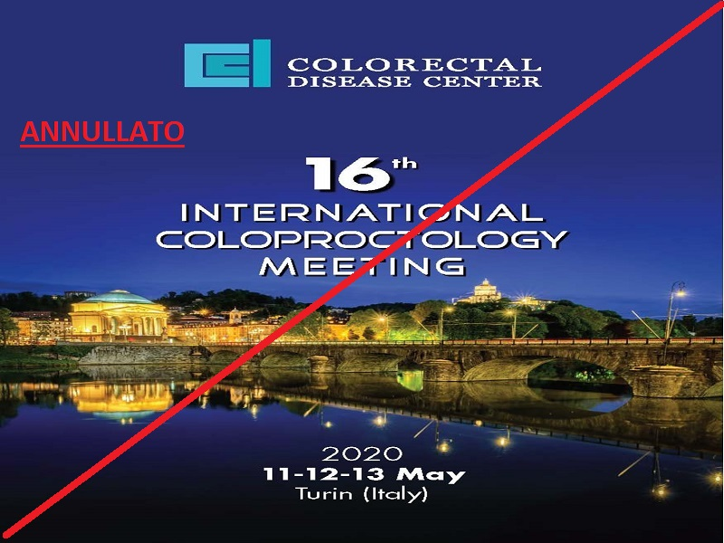 11-13 MAGGIO 2020, 16° INTERNATIONAL COLOPROCTOLGY MEETING